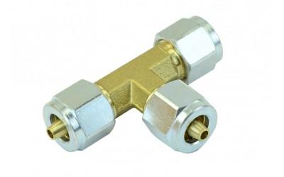 Соединитель 6-6-6 мм Т-образный для ПВХ трубки в сборе GOMET