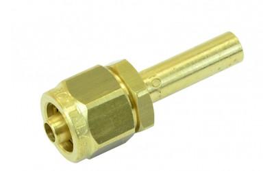 Фитинг Ø8 мм (переходник, штуцер) для трубки ПВХ прямой в сборе FARO