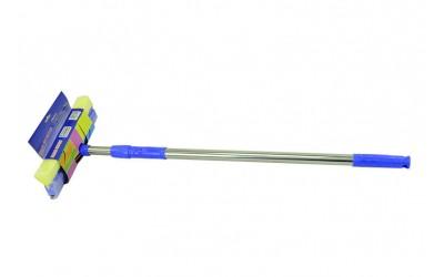 Щетка для мойки автомобиля телескопическая 75-120 см резинка,губка Avtogen