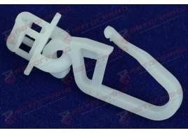 Крючок шторы узкий в кабину Вольво Ман Ивеко белый (25 штук) на штору