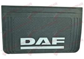 Брызговик с надписью DAF 400x650 мм черный выпуклый 3D (1 штука)