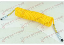 Шланг пневматический полиэтилен M16x1.5MMXM16x1.5MM  6,5м желтый Fi=70 спирали