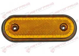 Фонарь гирлянды желтый овальный на 20 диодов с кронштейном LED