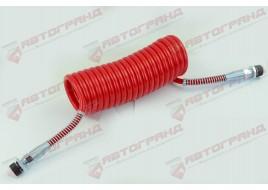 Шланг пневматический полиэтилен M22x1.5MMXM22x1.5MM 4,5м красный  Fi=70 спирали