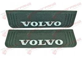 Бризговик з написом Volvo 190x650mm Чорний випуклий 3D