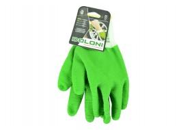 Перчатки трикотажные с латексным покрытием10-класс зеленые 10 размер