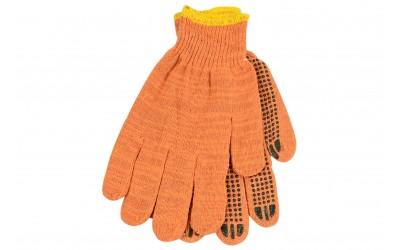 Перчатки трикотажные х/б 10-класс оранжевые (пр-во WERK)