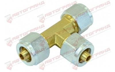 Соединитель 8-8-8 мм Т-образный для ПВХ трубки в сборе GOMET