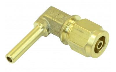 Фитинг Ø6 мм (переходник, штуцер) для трубки ПВХ угловой в сборе GOMET