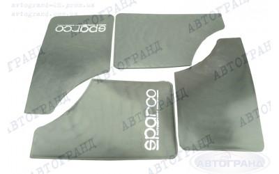 Брызговик 2101-2107 малый черный (к-кт 4 шт) SPARCO