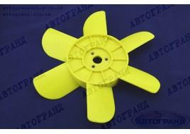 Крыльчатка радиатора 2101-2107, 2121 6-ти лопастная желтая (пластиковые втулки)
