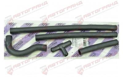 Патрубки системы отопителя 2112 (патрубки печки) (к-кт 4 шт) с тройником 40928 ПТИМАШ