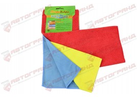 Тряпка микрофибра для пыли,стекла,полировки (к-кт 3 шт ) Avtogen