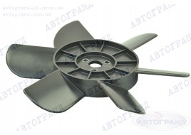 Крыльчатка радиатора 2101-2107, 2121 6-ти лопастная черная (металлические втулки)