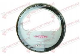 Оплетка руля кожа 2107-2107, 2121, 2141, ГАЗ (39-40 см) под пальцы,с перфорацией, черная Avtogen