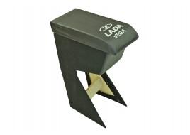 Подлокотник 2110, 2111, 2112 (основа ДСП) (бар) черный с вышивкой