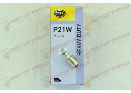 Лампа освещения 24V P21W BA15S (пр-во HELLA)