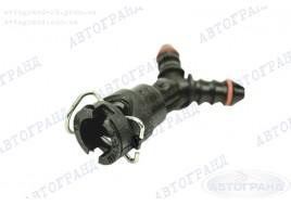 Разъем топливной трубки 21082-21099, 2110-2170 двойной прямой (металлический фиксатор) инжектор