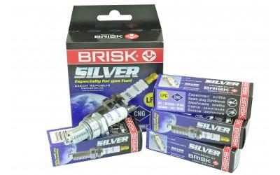 Свечи зажигания газовые 2101-2110, 2121 SILVER с резистором (8 кл) 21 (к-кт 4 шт) BRISK