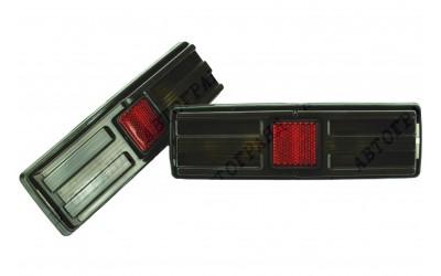Фонарь 21011 задний (черный корпус) тюнинг серый/серый (к-кт 2 шт)