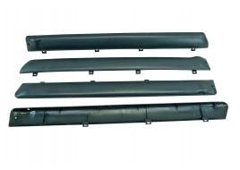 Накладка двери 2103-2107 (батоны пластик) серые (к-кт 4 шт)