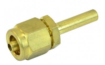 Фитинг Ø6 мм (переходник, штуцер) для трубки ПВХ прямой в сборе CERTOOLS