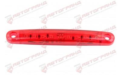 Фонарь габаритный LED 9 диодов красный 100x17x10