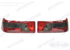 Фонарь 2110, 2112 задний затонированный (красно-черный) (полный к-кт на машину 4 шт) АВТОГРАНД