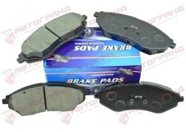 Колодки тормозные Aveo T250, T255 1.2-1.5 передние (к-кт 4 шт) GROG