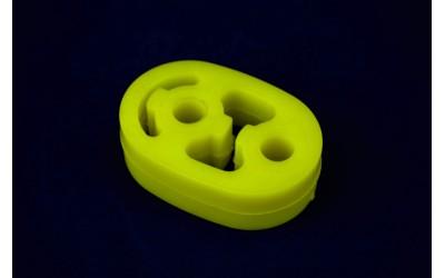 Подушка подвески глушителя ГАЗ 3302, 3110, 2217, Валдай полиуретан желтый