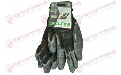 Перчатки с латексным покрытием 10-класс черные