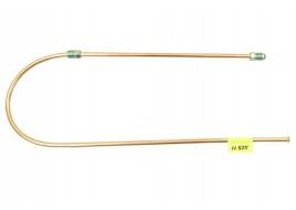 Трубка тормозная ГАЗ 53, 3307, 66, УАЗ (д.6) 85см от тройника к левому переднему тормозу (Медь)