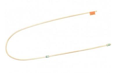 Трубка тормозная ГАЗ 53, 3307, 66, УАЗ (д.6)140 см от тройника к правому заднему тормозу (Медь)