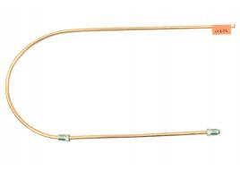 Трубка тормозная ГАЗ 53, 3307, 66, УАЗ (д.6) 90 см от тройника к левому переднему шлангу (Медь)