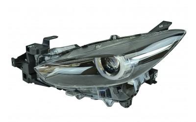 Фара Mazda 3 3 BM (2016-2019) рестайлинг галоген линзованная ДХО (LED) электрокорректор левая