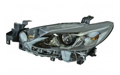 Фара Mazda 6 GJ (2015-2018) рестайлинг LED линзованная ДХО (LED) электрокорректор без MFR левая