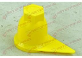 Колпачок колесный (D32 мм) желтый со стрелкой