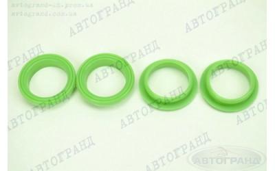 Ремкомплект свечного колодца ГАЗ 3302 (ЗМЗ 406 дв) (новый образец) (зеленый) силикон ПТП