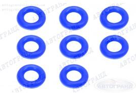Кольцо форсунки ГАЗ 3302, 2110-15, 2170 (4216, 405. 406 дв) (синий) силикон (к-т 8 шт) ПТП