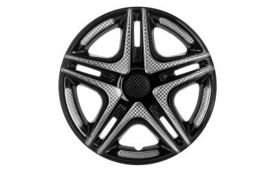 Колпак колесный Дакар Super Black (карбон) R15 (к-кт 4 шт) STAR