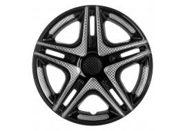 Колпак колесный Дакар Super Black (карбон) R16 (к-кт 4 шт) STAR
