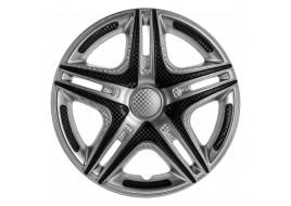 Колпак колесный Дакар Super Silver (карбон) R14 (к-кт 4 шт) STAR