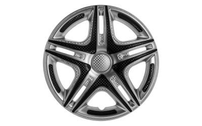 Колпак колесный Дакар Super Silver (карбон) R16 (к-кт 4 шт) STAR