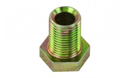 Гайка 6 мм M10*1 (метал) для медной трубки (наружная резьба) Турция