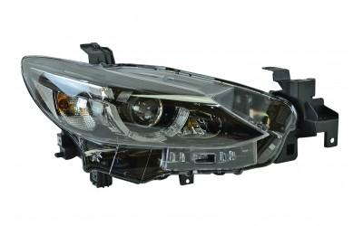Фара Mazda 6 GJ (2015-2018) рестайлинг LED линзованная ДХО (LED) электрокорректор без MFR правая