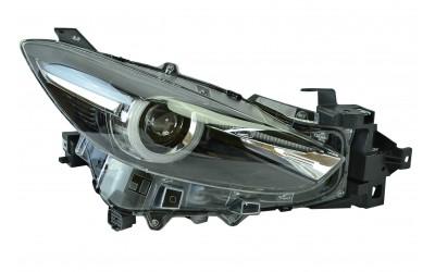 Фара Mazda 3 3 BM (2016-2019 рестайлинг галоген линзованная ДХО (LED) электрокорректор правая