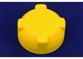 Крышка расширительного бачка ЕвроДеталь (желтая).(Упак 200шт)