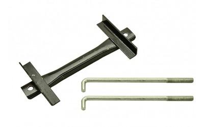 Планка АКБ + крючки 2121, 21213. 21214 (планка + 2 крючка, к-кт 3 шт)