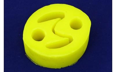 Подушка подвески глушителя ГАЗ 3302 Бизнес полиуретан желтый