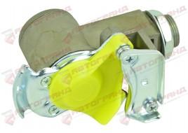 Пневмосоединение с фильтром желтое KU1410 (M16x1.5 внутреннее X M22 x1.5 внешнее)